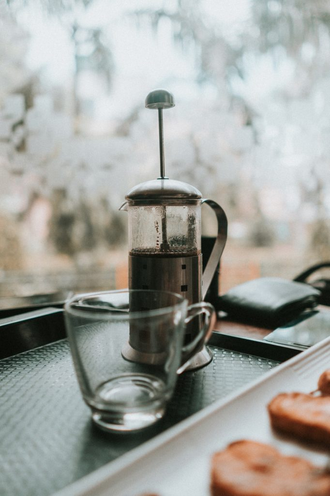 Cup with french press
